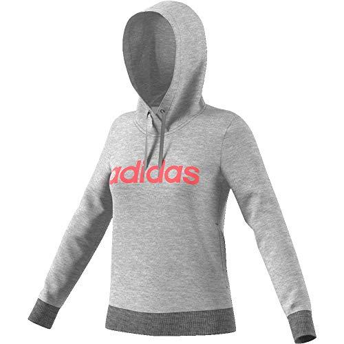 adidas Hoodie Pullover Damen grau, Farbe:Grau, Damen Größen:XXL