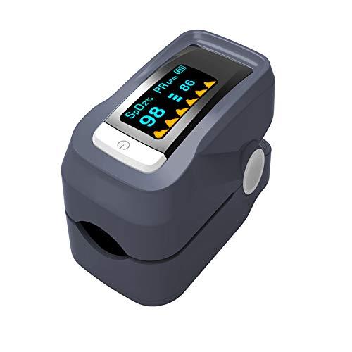 Finger Pulsoximeter Herzfrequenz-Detektor Blutdruck Meter Herzfrequenz-Messgerät,Gray