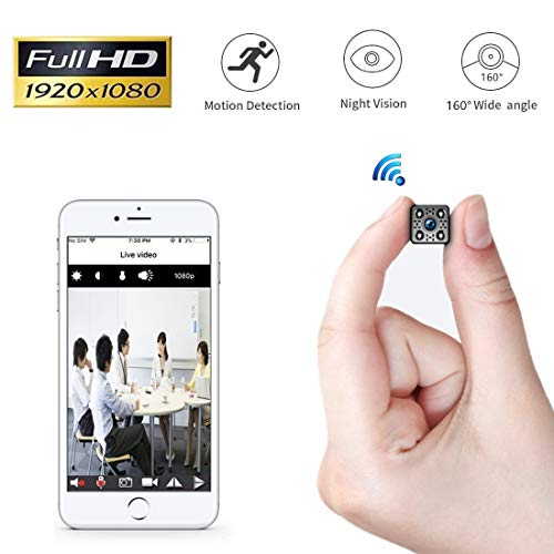 Mini Kamera Yilutong WLAN IP Kamera WiFi Überwachungskamera Wireless Sicherheit Kamera mit Bewegungserkennung Nachtsicht