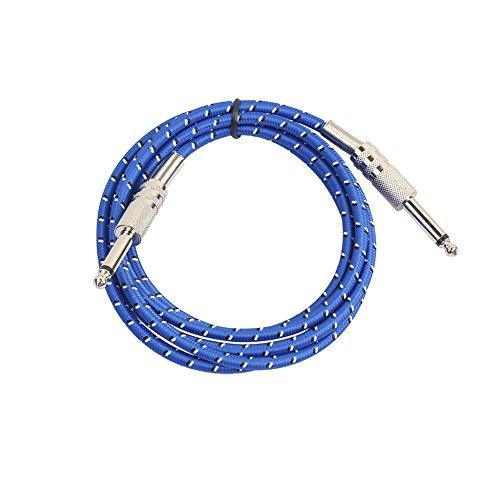 Zantec Kabel, 6,35mm-Stecker auf 6,35mm-Stecker, mono-Bass-Gitarre (für Musikinstrumente