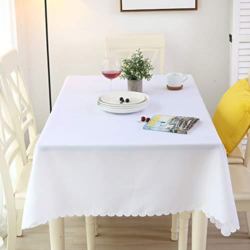 BATSDCB Rechteck Runde Tischdecken, Waschbar Polyester Tisch-Abdeckung, Ideal für Party Restaurant...