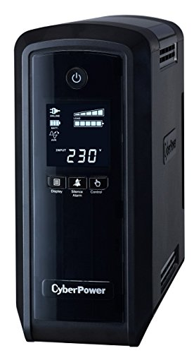 CyberPower Systems PFC Sinewave Line-Interaktiv 1300VA 6AC-Ausgänge Schwarz Unterbrechungsfreie Stromversorgung (UPS), CP1300EPFCLCD-UK - Cyberpower Batterien