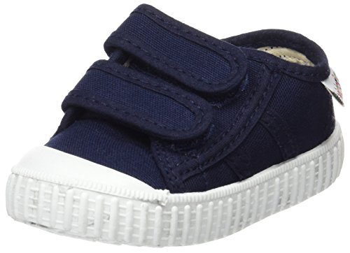 Victoria-Basket-Lona-Dos-Velcros-Primeros-Pasos-de-Lona-Beb-Nios-azul