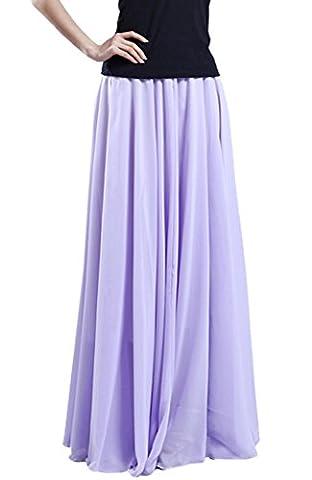 Medeshe - Jupe - Évasée - Femme - violet - Taille Unique