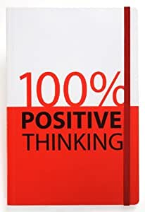 Grandluxe 100% Positive Thinking Catch Phrase A6 Notebook, 64 Sheets, 3.5 x 5.5-Inches,Red/White (313418) by Grand Luxe-OP