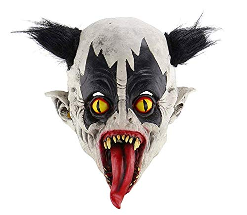 Halloween Horrific Demon Adult Scary Clown Cosplay Requisiten Teufel Flamme Zombie Maske