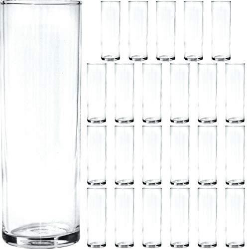Bormioli Rocco 24 Stück Longdrink Gläser im Set hoch und schmal Trinkgläser Longdrinkglas Longdrinkgläser