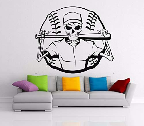WWYJN Wall Sticker Interior Home Decor Vinyl Art Poster Baseball Boys Kids Sports Playroom Mural Removeable Sticker57X68CM