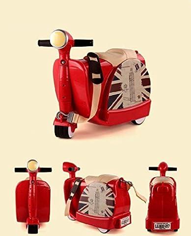 Yideli Kinder Trolley-Tasche Spielzeug Spielzeug Aufbewahrungsbox Koffer kann Fahrt für Kinder im Alter von 3 bis 6 Umweltschutz ABS-Kunststoff , red