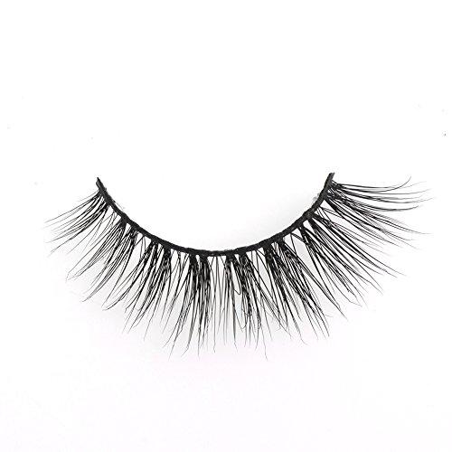 Arison Lashes Faux Cils 3D 100% Fait Main Cross Noir Allongement Volumineux Vison Authentique Pour Maquillage Yeux (Junio)
