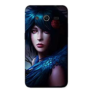 Stylish Crossed Angel Multicolor Back Case Cover for Galaxy Core 2