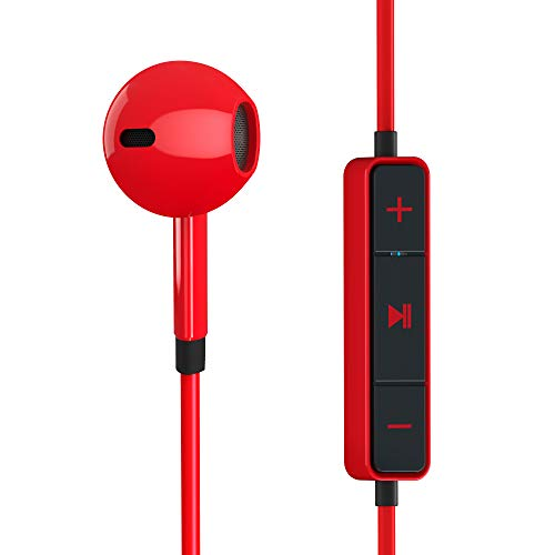 Energy System-Im-Ohr-Kopfhörer (Bluetooth, integriertes Mikrofon, Akku) rot -