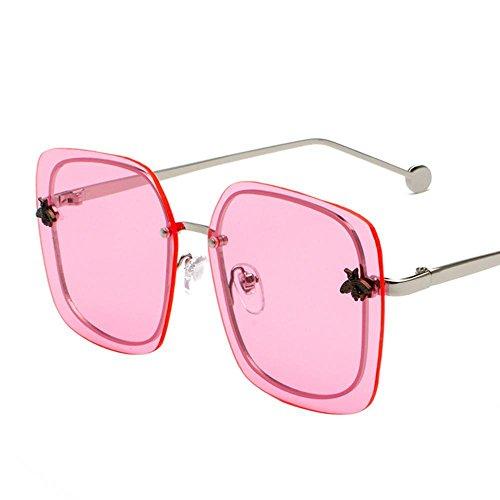 Aoligei Sonnenbrille Sonnenbrille Frauen Runde Farbe Runde konfrontiert