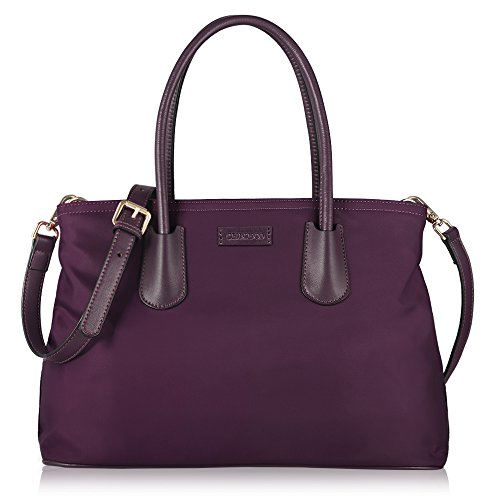 CHICECO Klassische Handtasche Damen Lila Henkeltasche Nylon Klein - 32 x 22 x 16,4 cm (Lila Shopper)