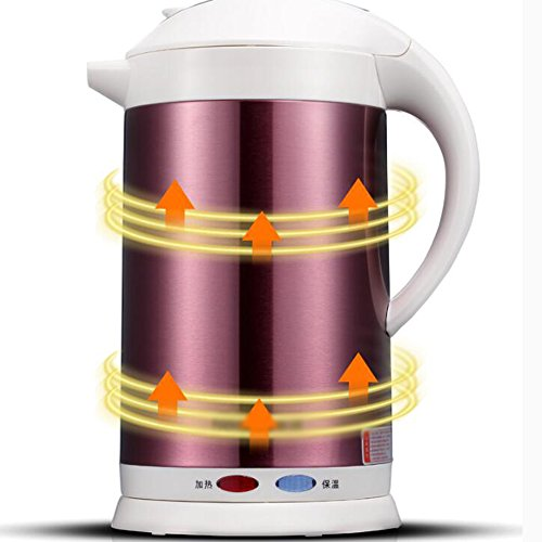Kettle FEIFEI Electric Stainless Steel Fuchsia White 1350W 1.8L 268 * 208 * 255mm Anti-dry Easy to move (Color : Fuchsia)