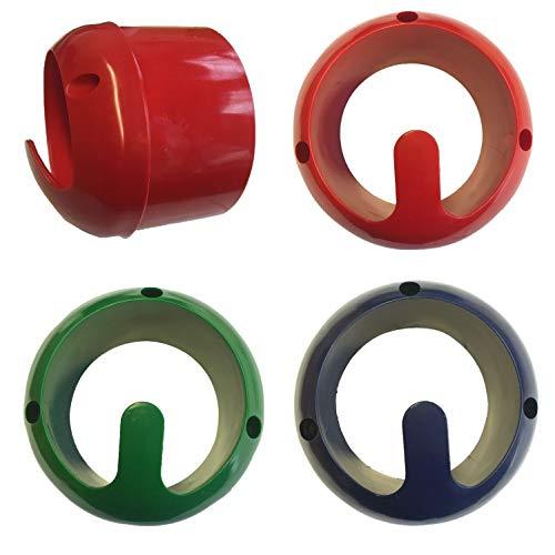 NETPROSHOP GEWA Halfter- und Trensenhalter für die Wand stabil, Farbe:Rot