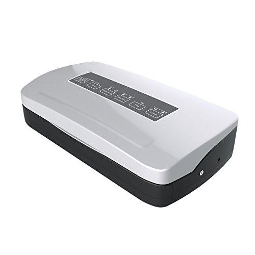 Allpax Vakuumierer F 210 silber inkl. 100 Vakuumbeutel 17,5 x 25 cm - Lebensmittel bis zu 8 Mal länger frisch halten! Voll- & Teilvakuum durch Pulse-System, 310 mm Schweißleiste und 2,2 mm Schweißnaht
