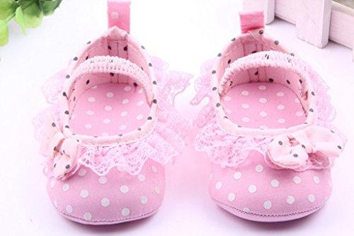 Spitzenbesatz Pink Mädchen Baby Ykk Lace 13 Schwarz Lauflernschuhe Smile FqTZw