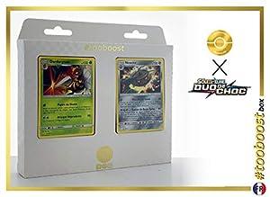 Dardargnan (Beedrill) 5/181 Y Noacier (Ferrothorn) 103/181 - #tooboost X Soleil & Lune 9 Duo de Choc - Box de 10 Cartas Pokémon Francés + 1 Goodie Pokémon