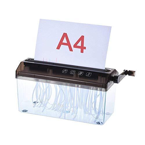 Versteckte Papierkorb (LMDS Tragbarer Mini-Aktenvernichter Hand Aktenvernichter Manuelle Papierdokumente Schneidewerkzeug Office Home Desktop Stationery)