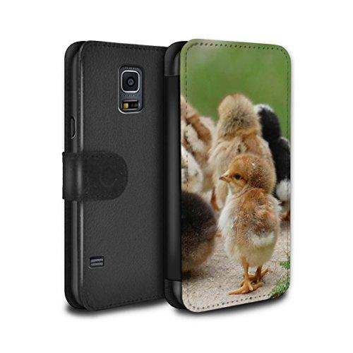 Stuff4® PU-Leder Hülle/Case/Tasche/Cover für Samsung Galaxy S5 Mini/Küken/Huhn Muster/Niedlich Haustiere Kollektion -