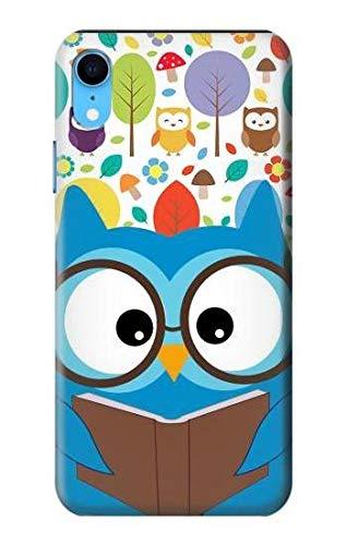 Innovedesire Cute Nerd Owl Cartoon Hülle Schutzhülle Taschen für iPhone XR
