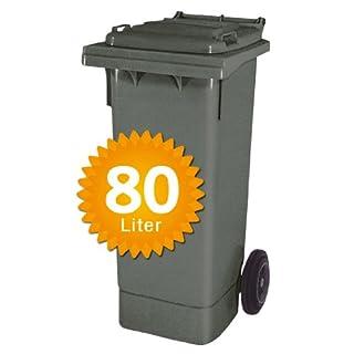 Müllbehälter, Inhalt 80 Liter, anthrazitgrau