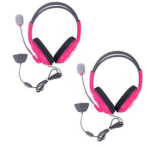hde-xbox-360-headset-game-chat-xbox-live-headphone-with-microphone-2-pack-pink