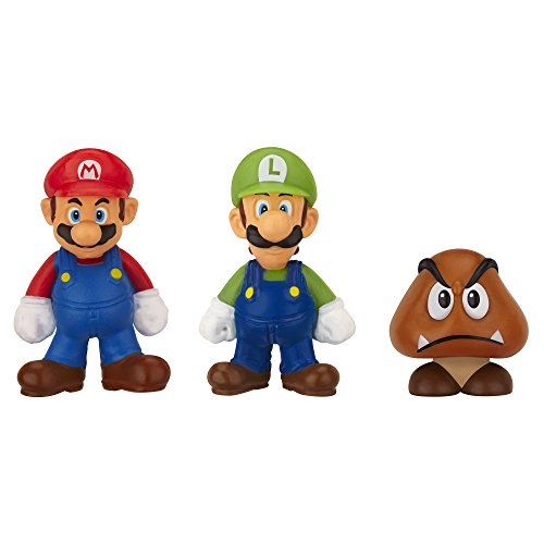 Mario Bros - World of Nintendo Micro Land 3 figura pack: Mario, Luigi,