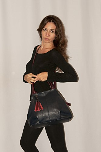 BORDERLINE - 100% Made in Italy - Borsa da Donna in Vera Pelle - GIADA Cipria