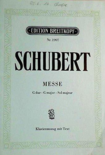 Partition : Messe G-dur D 167 - Soli,GemisteChor,Orchestra - EinzelStimme - Orgel