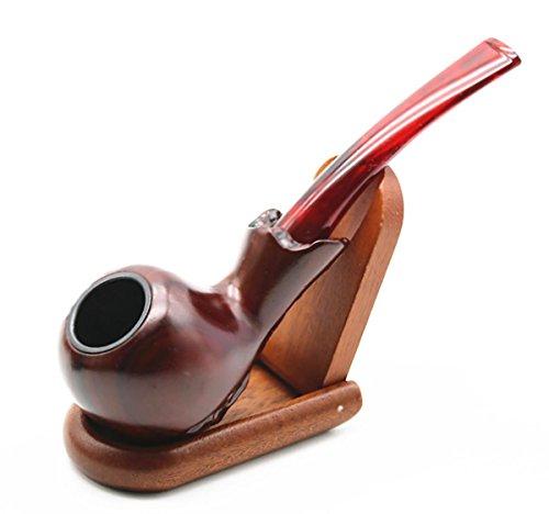 TOBACPIPE Red Hammer-Stil Textur geschnitzten gebogenen poliert Rauchen Tabakpfeife Vater Tag (Einer Kopf Box In Kostüm)