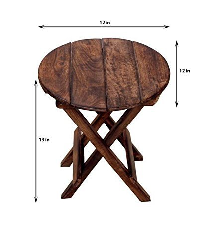 Charmant Fara Creations Beautiful Wooden Folding Side Table