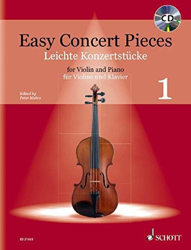 Easy Concert Pieces: Band 1. Violine und Klavier. Ausgabe mit CD.