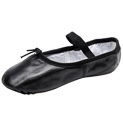 rismart Damen Wohnung Funkeln Pumps Puppe Leder Ballerinas Schuhe (Tanz 2017 13 Kostüme)