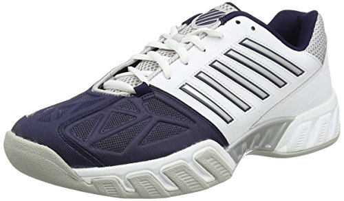 K-Swiss Performance Bigshot Light 3 Carpet, Scarpe da Tennis Uomo, Bianco (White/Navy), 46 EU(11 UK)