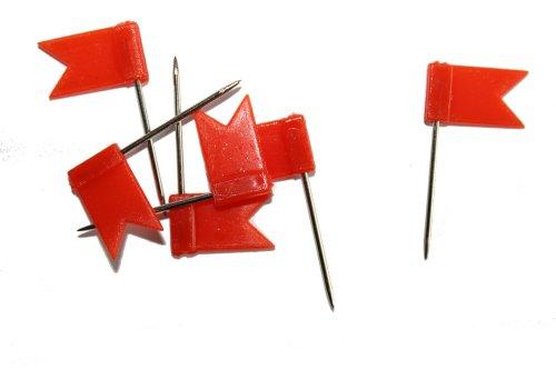 ernadeln, Fahne, 30 Stück, hell-rot (Fähnchen)