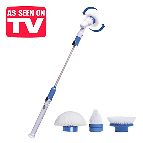 - BN Houseware - Spin Scrubber. 5420.Cepillo eléctrico giratorio profesional, perfecto para limpiar a fondo de forma fácil y rápida. Producto perfecto para suelos, baños y azulejos