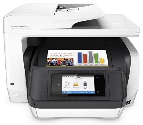 HP OfficeJet Pro 8720 Multifunktionsdrucker (A4, Drucker, Scanner, Kopierer, Fax, WLAN, LAN, NFC, Duplex, USB, 4800 x 1200 dpi) weiß