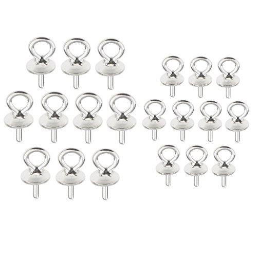 F Fityle 20pcs Sterling Silber Bead Caps Schmuck Connectors DIY Anhänger Ergebnisse