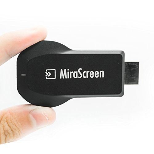 MiraScreen Dongle 1080P Adattatore WiFi WiFi Display, DLNA compatibile MiraCast AirPlay compatibile (iPhone, iPad, Mac), Installazione gratuita (nessun APP, nessun driver) TV Dongle