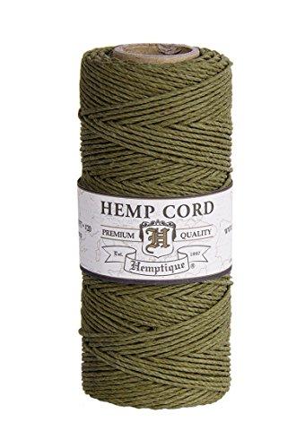 Hemptique Bobine de ficelle de chanvre, Sage 50 g