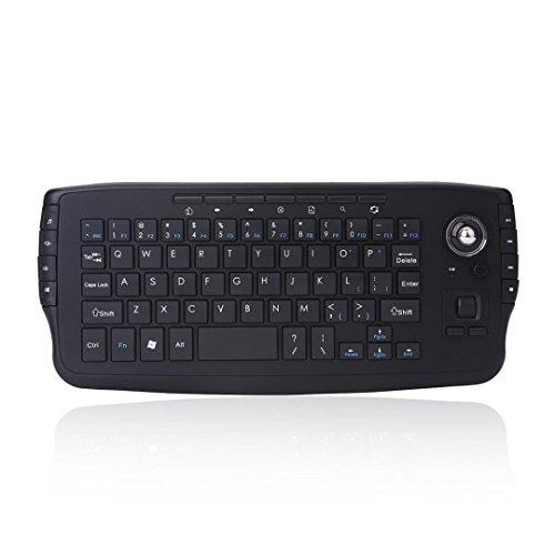 E30 2,4G Mini Wireless Tastatur Multimedia Funktion Trackball Air Maus 10 mt Wireless Entfernung (Tastatur)
