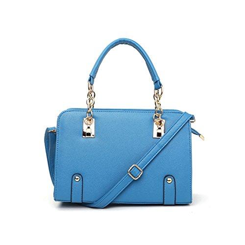 xiaoxuan coreano moda borse borsa a tracolla per donna, Pink (rosa) - BG00003E Sky Blue