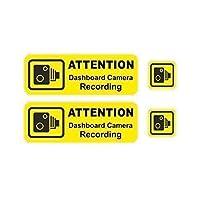Sticar-it Ltd Set Of 4 DASH CAM Dashboard camera Safety Information Sign Vinyl Car Sticker DecaL