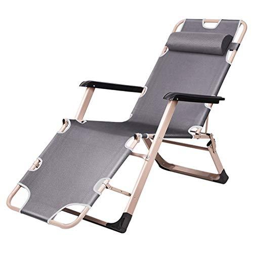 Fauteuil Lounge, Chaise-Longue De 3 Chaises De Jardin Pliantes Orientables Inclinables pour Chaises De Jardin ZippéEs, Cadre en Acier 600d Oxford avec Oreiller pour Camping, Piscine, Plage