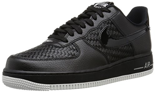 Nike Herren Air Force 1 '07 Lv8 Low-Top Black (Black (Schwarz / Schwarz-Summit White-CHRM))