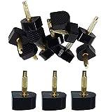 6 pares (12 unidades), color negro, para mujeres, señoras, niñas, en forma de U, para zapatos, tacones de repuesto para zapatos de tacón alto