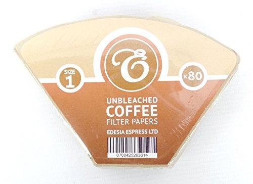 EDESIA ESPRESS - Kaffee-Filtertüten - ungebleicht - Größe 1 - 80 Stück