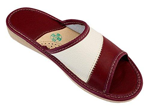 Foto de Apreggio Zapatillas De Cuero Para Mujer Pantuflas Suela De Goma Producto 100% Natural Hecho a Mano